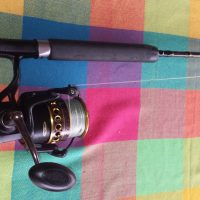 Fishing reels and pole's , to set ups One for poppers and the other jigging.